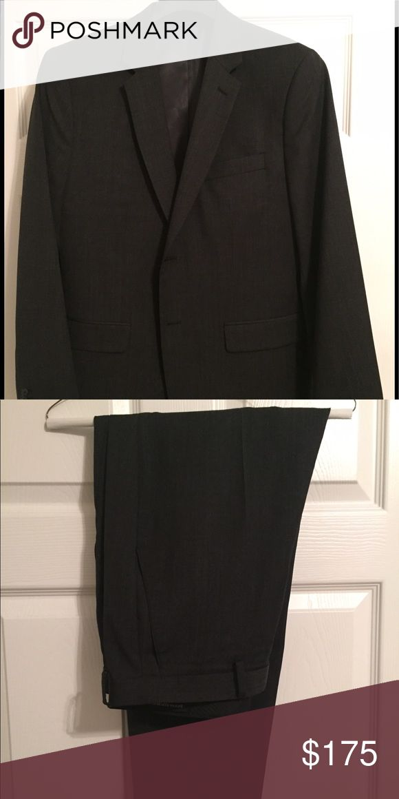DrkCharcoal Banana Republic Tailored Slim Fit Suit Worn once and laundered after use. Does not fit anymore. Like new condition. Pants are 34x30. Banana Republic Suits & Blazers Suits