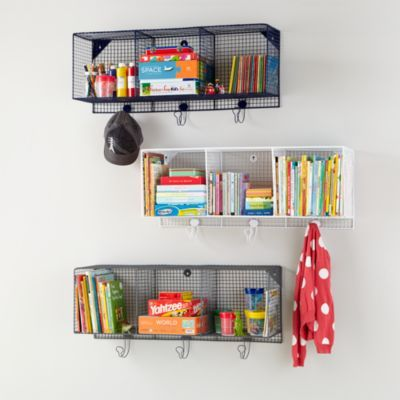 Down to the Wire 3-Cube Wall Shelf    The Land of Nod