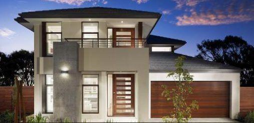 Dise os de fachadas de casas de dos pisos moje pinterest for Disenos de casas chiquitas