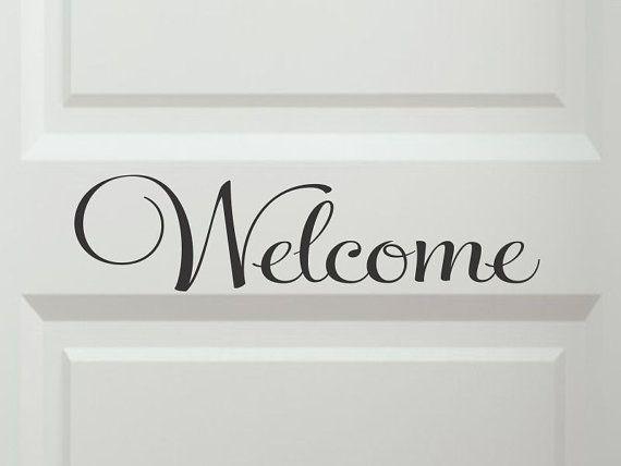 Welkom deur Decals Welkom deur Sticker Welkom door vgwalldecals