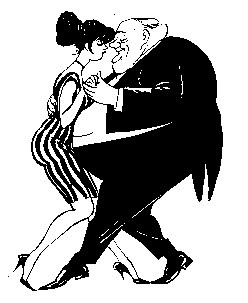 Dancers drawn