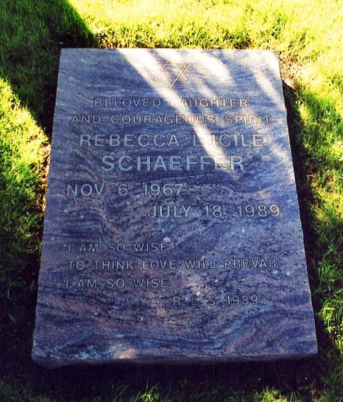 SEEN, but want to clean headstone..... Rebecca Schaeffer--Actress--taken way to soon by a crazy murdering fan