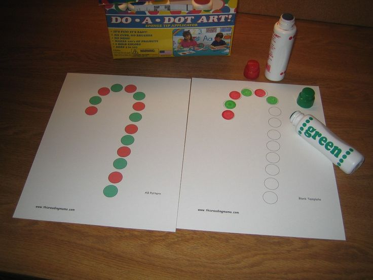 Free Printable candy cane cards. Fun way to teach patterns and strengthen hands for writing later. {This Reading Mama}