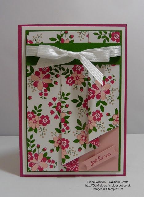 Oakfield Crafts : Paper folded card                                                                                                                                                                                 More