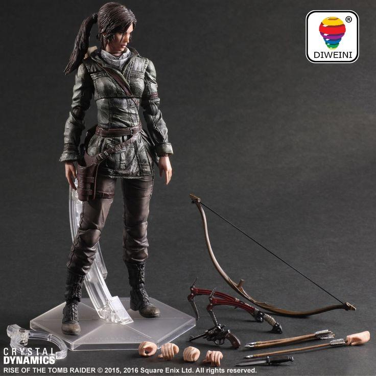 38.00$  Buy here - DIWEINI Action Figure Lara Croft Play Arts Kai Toys PVC 280mm Anime Toys Rise of The Tomb Raider Playarts Lara Tobyfancy  #aliexpress