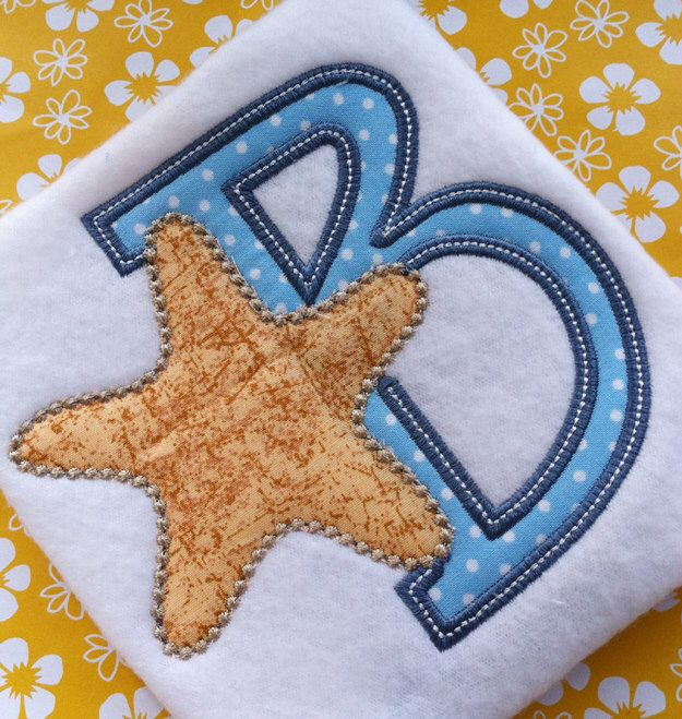 Beach Applique Letter Font Set Design Starfish Alphabet Machine Embroidery Pattern INSTANT DOWNLOAD Digital File Summer Ocean Fish Nautical by PersonalLife on Etsy https://www.etsy.com/listing/238467454/beach-applique-letter-font-set-design