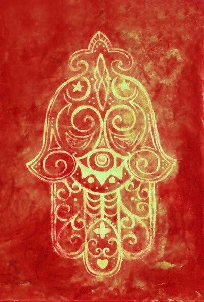 Hamsa (Hand of Fatima)   I'd love this, except without the little heart at the bottom, and make the stars nautical stars