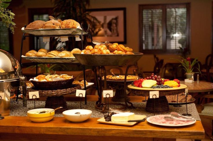 Breakfast Buffet Table at the Villagio Inn in Yountville, Napa Valley, California