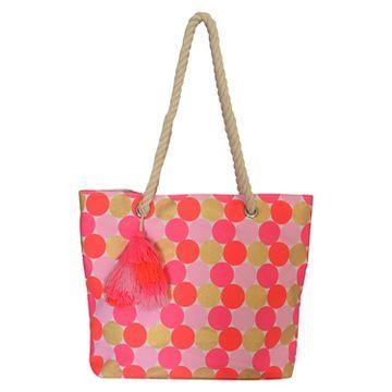 Girls' Polka Dot Tote Bag Cat & Jack™ - Pink Polka Dots