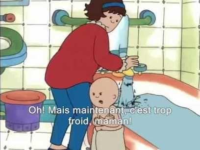 Caillou prend son bain (sous-titré en français)