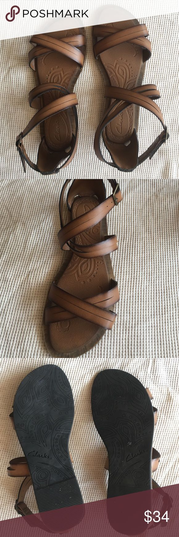 Clarks sandals Clarks sandals. Worn once. Look brand new. Clarks Shoes Sandals