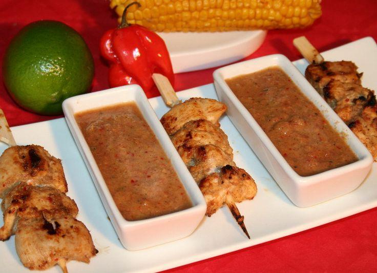 Brochettes de poulet jerk (Jamaique)