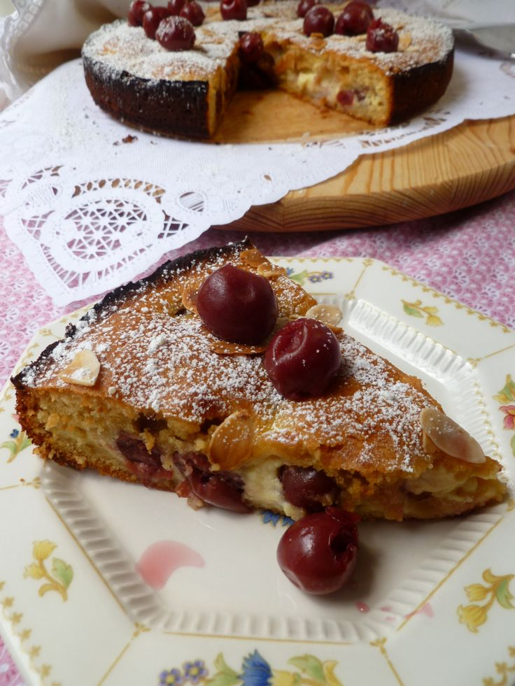 Hungarian Cherry Cream Pie - Meggyes-Krémes Lepény | diplomatic kitchen