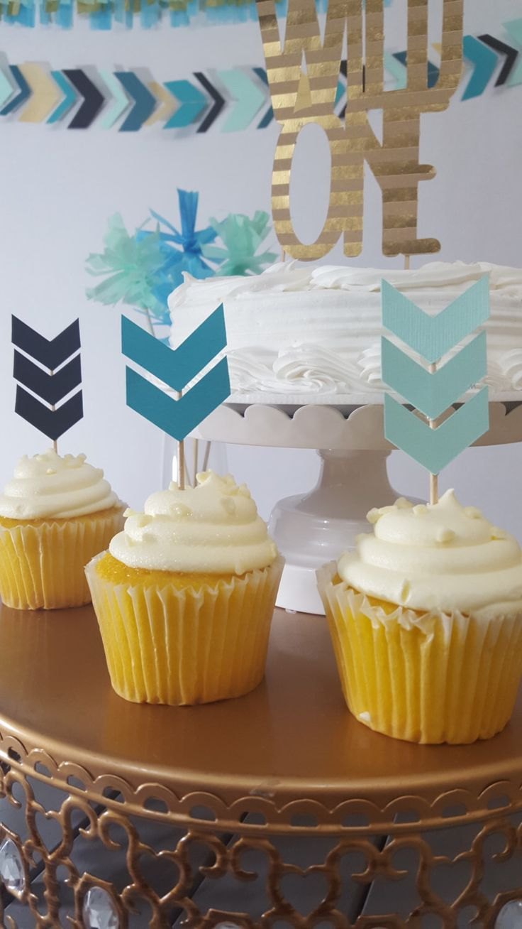 Tribal Arrow Birthday Cupcake Topper by eventprint on Etsy https://www.etsy.com/listing/260550208/tribal-arrow-birthday-cupcake-topper