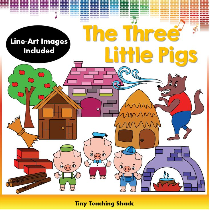 the three little pigs clipart