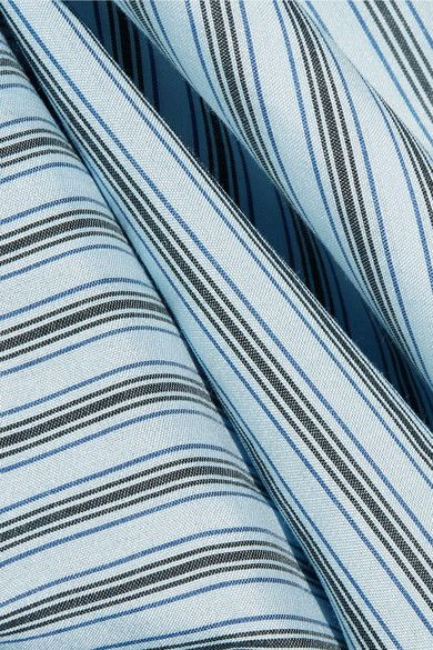Vince - Striped Silk Shirt - Blue - x small