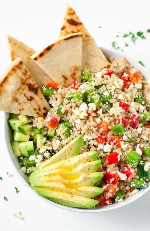 Healthy Greek Quinoa Bowls