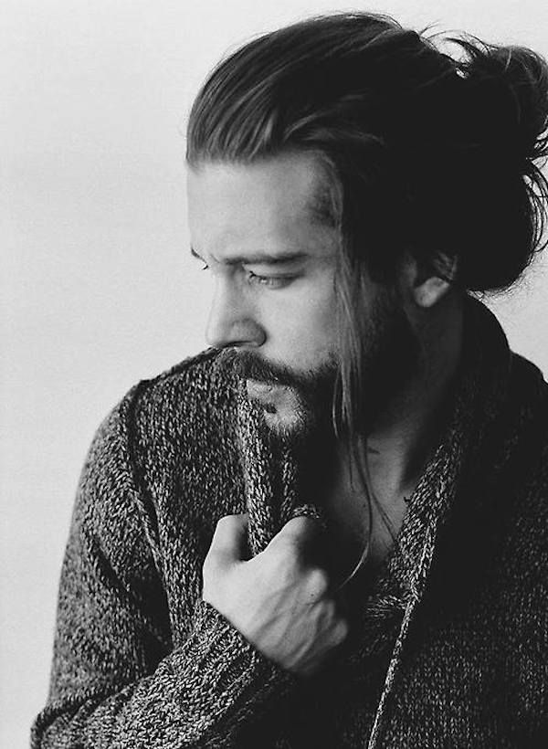 Man bun hairstyle with hipster beard pictures? Style request