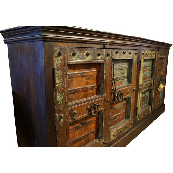 Old Door India Sideboard #huntersalley  sc 1 st  Pinterest & 29 best Antique Reproduction furniture images on Pinterest ... pezcame.com