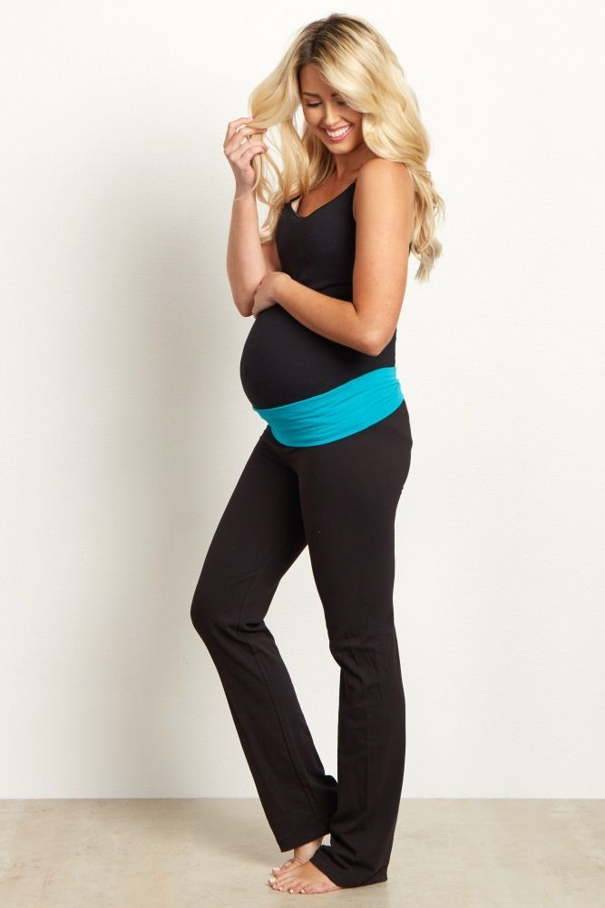 151093ec5b138 Cute Maternity Workout Clothes | Pink Waistband Cropped Maternity Legging  Cute Maternity Workout Clothes | Nursing Clothes | Maternity Tops |  Maternity ...
