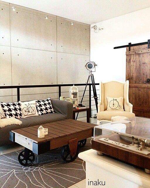 #industrial #rustic #vintage #modern #eclectic #livingroom