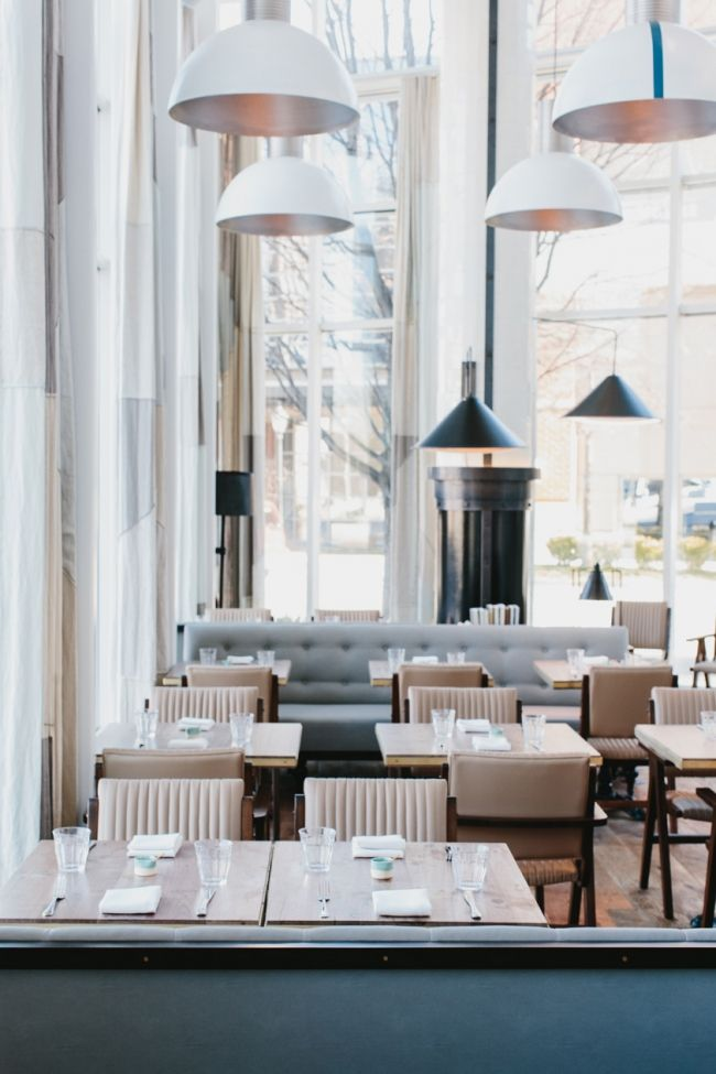 Meyer Davis — St. Cecilia // I like their use of white along with the mix of traditional and modern elements