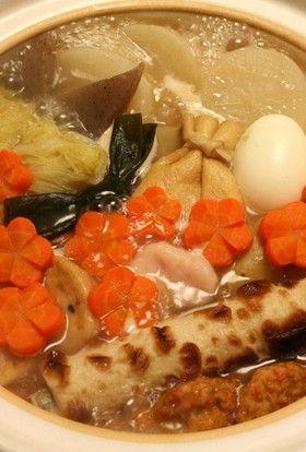 土鍋でいつまでも熱々~うちのおでん鍋