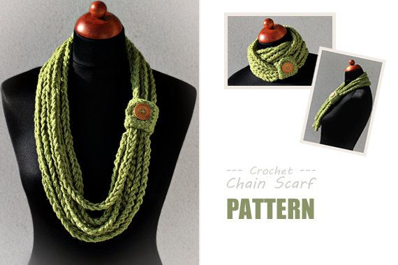 Crochet Chain Scarf - PDF Pattern. You have to buy the pattern for a couple dollars which is not much, but I don't think I would need a pattern for it.