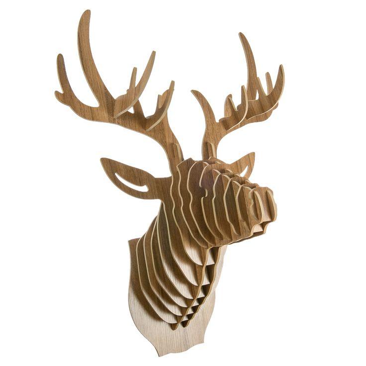 """Puzzle 3D """"Głowa jelenia"""" - Do powieszenia na ścianie"""