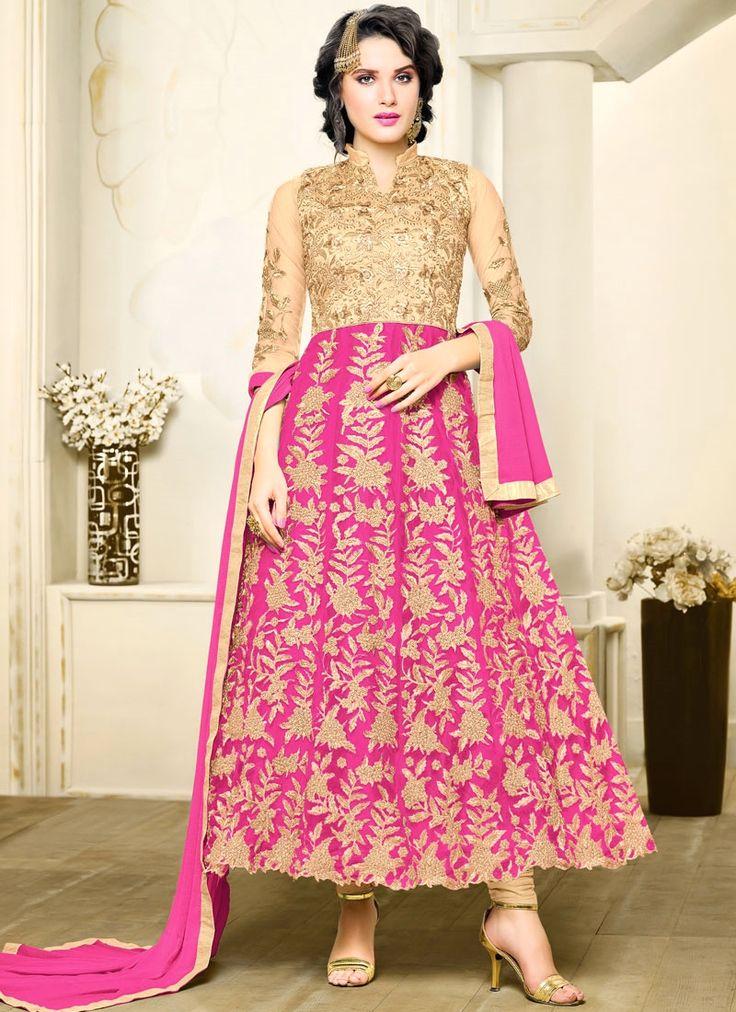 Sonorous Embroidered Work Art Silk Anarkali Salwar Suit