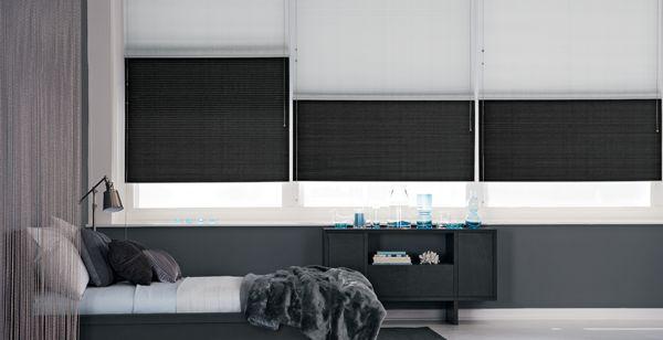 Modern, Minimalistic, Monochromatic with double layer window shades