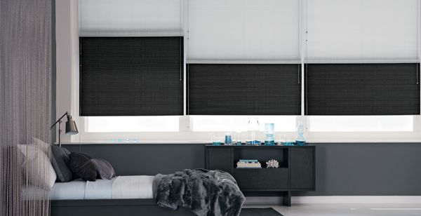 Modern, Minimalistic, Monochromatic with double layer window shades