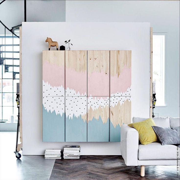 Wenn der Wandschrank zum Kunstwerk wird. DIY mit den Schrankelementen IVAR -  meinIKEA