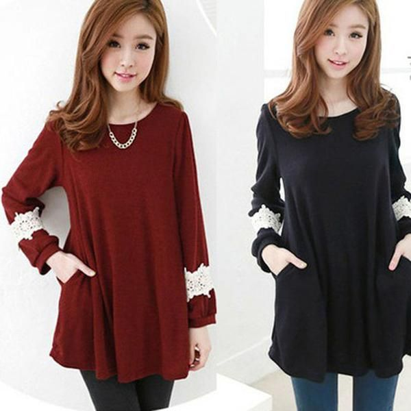 LadyIndia.com # Party Wear, Designer Loose Tops Long Sleeve Shirt Cotton Tunic Casual Blouse - New Style Top, Tops, T-shirts, Women Tops, Party Wear, Western Wear, Imported Tops, https://ladyindia.com/collections/western-wear/products/designer-loose-tops-long-sleeve-shirt-cotton-tunic-casual-blouse-new-style-top