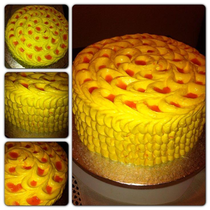 Deliciosa tarta con un sabor especial Mango una exótica fruta!!! :D