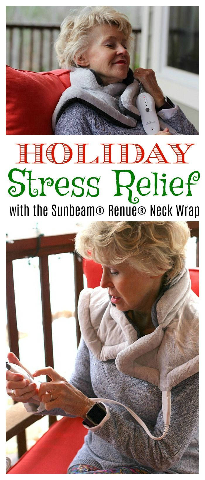 : #ad The holidays can be stressful but finding the perfect way to relieve those sore neck and shoulder muscles with heat doesn't have to be! Find out why the #Sunbeam Renue Neck Wrap is the perfect holiday gift for each and every person on your list! #TeamSunbeam