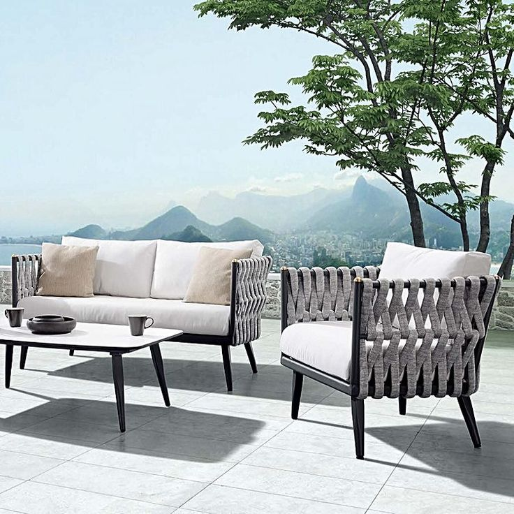 Outdoor Lounge Zanui: Crown 4-Piece Outdoor Lounge Setting By Indosoul