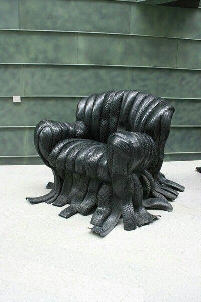Villu Jaanisoo, Chair I-II 2001. Motor Tyres. KUMU Estonia