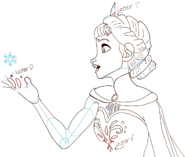 how to draw elsa from frozen video and step by step photo instructions that can