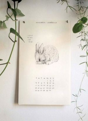 Love these woodland inspired illustrations #calendars