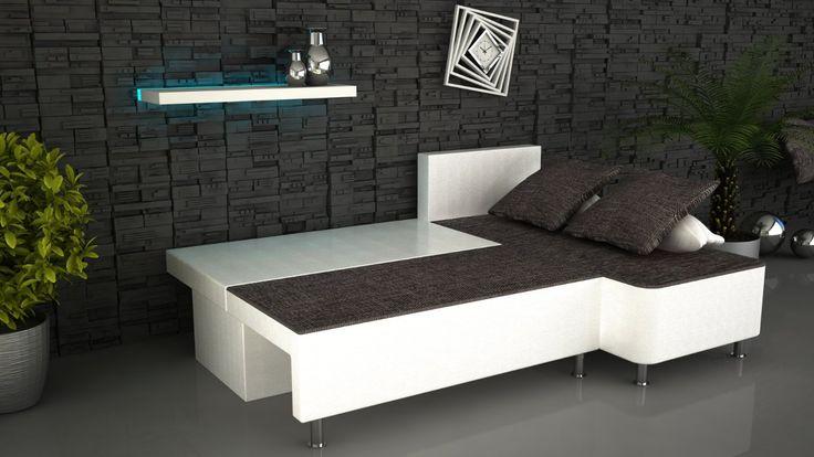 ONUX Ecksofa Kunstleder Schlafsofa Couch mit Schlaffunktion: Amazon.de: Küche & Haushalt