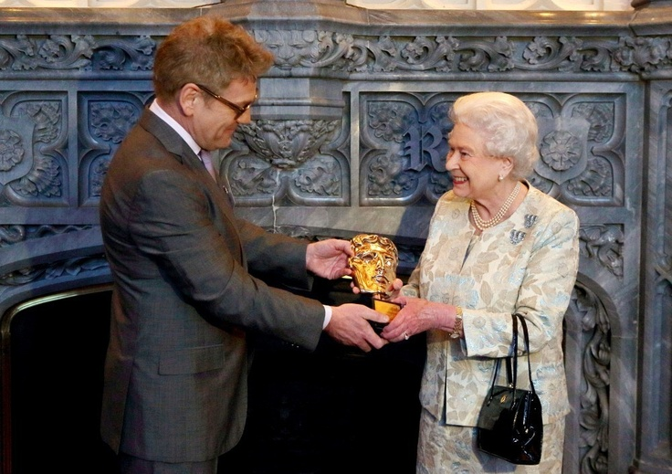 The Queen and Prince Philip meeting actors during a reception for the British Film Institute at Windsor Castle 4 Apr 2013