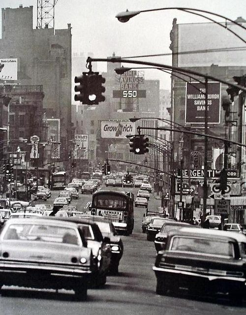 New York City 1960s A Busy Vintage View Places Nyc 1