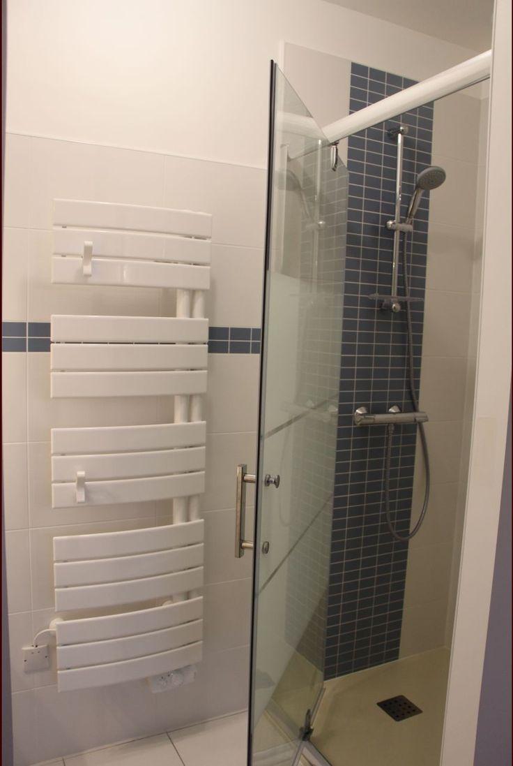dcorationsalle de bain salle deauyvelines faience marazzi tacto azul bleu orage parait plus bleu en ralit porte de douche sensea de chez - Aquabella Salle De Bain