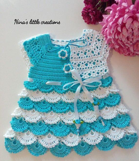 261 best vestidos bebé crochet images on Pinterest | Vestidos de ...
