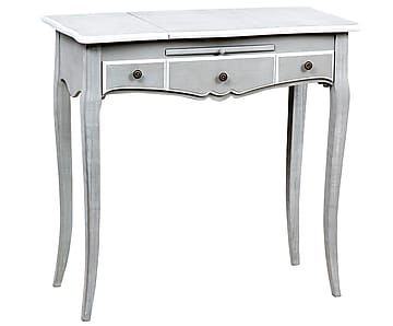 Стол CANNES - дерево павловния - серебряный - В78хД80хШ38
