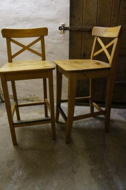 2 Hochsthle Barhocker Barsthle Sthle Echt Holz IKEA Ingolf In Niedersachsen