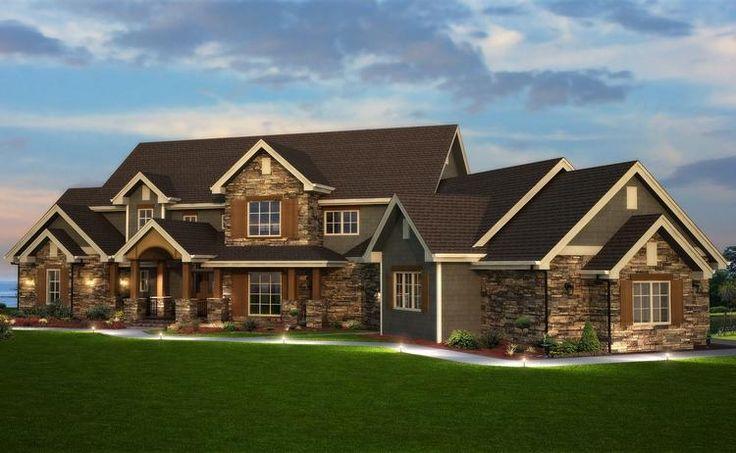 Craftsman Plan: 6,837 Square Feet, 6 Bedrooms, 5 Bathrooms - 5631-00041