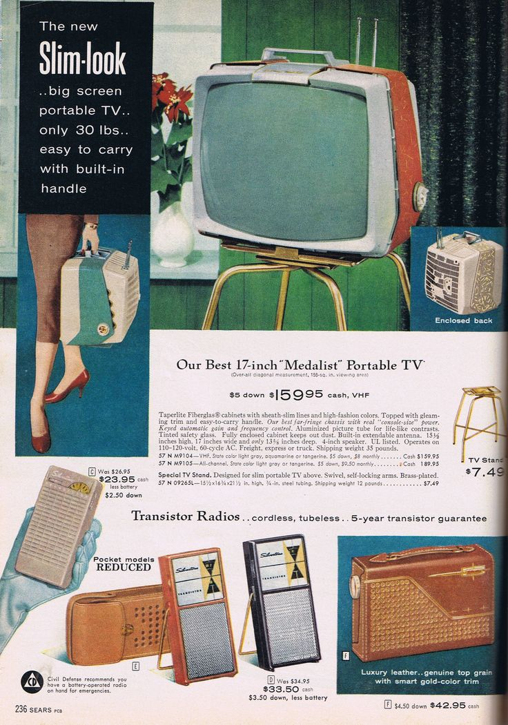 Christmas 1958  B: Only 30lbs! And Apple acts like it invented multiple color options in consumer electronics. Bah!