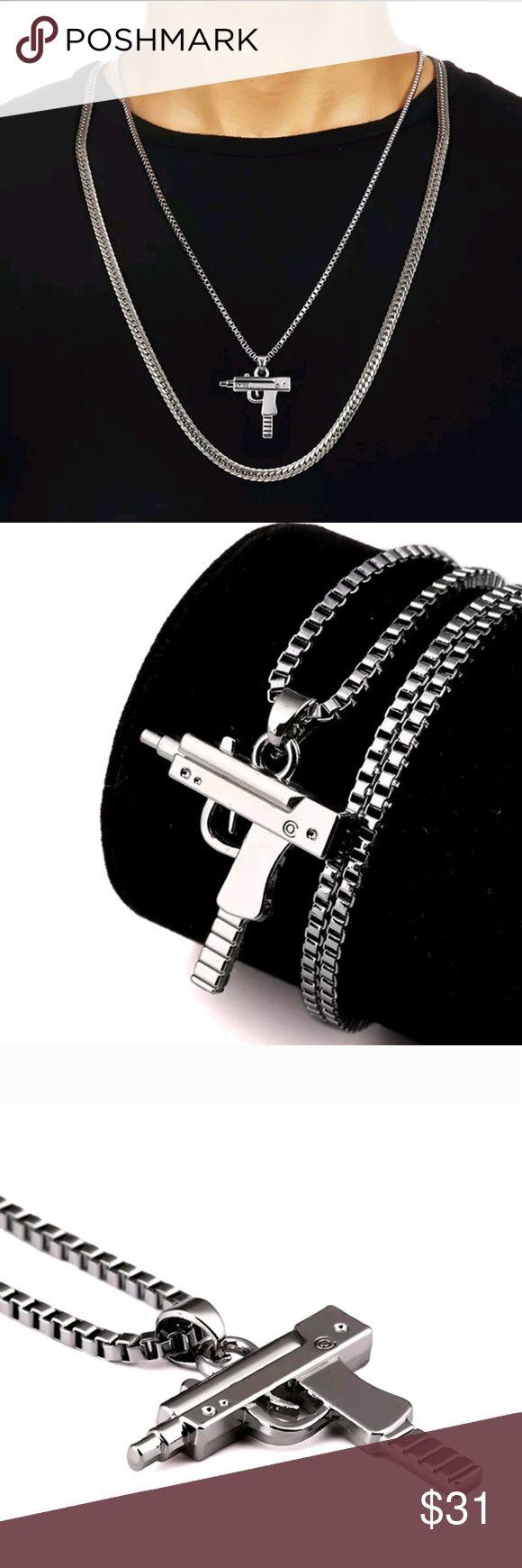 SILVER Supreme Brand Uzi Necklace/Chain Top notch shit Supreme Accessories Jewelry